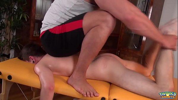 bear massage boy with handjob
