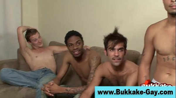 Gay bukkake loving guy group blowjobs