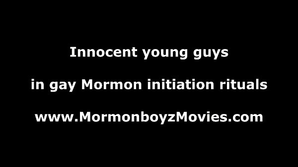 Gay Mormon boys wrestle naked for initiation