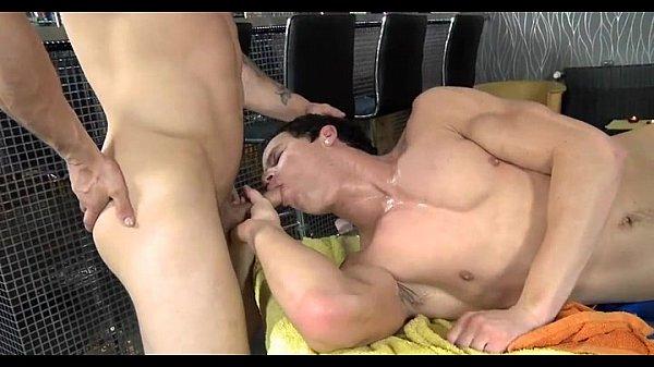 Gay prostate massage clip