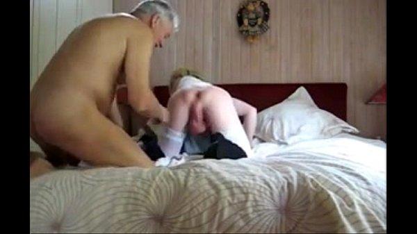 old man sucks big balled  young crossdresser