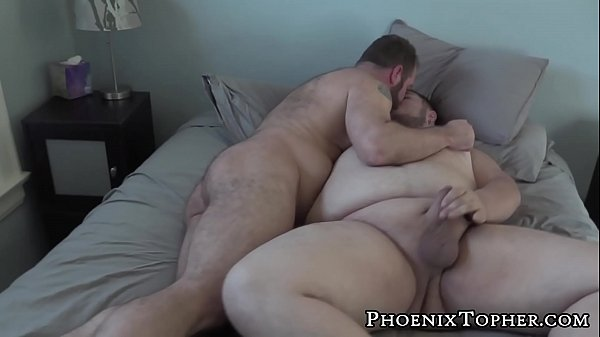 Burly homo has small dick sucked off before anal