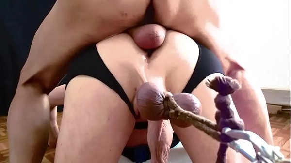 CBT-Fucking with streching balls 1
