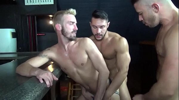 threesome gay at bar