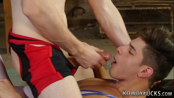 Gay jock rides dick bareback